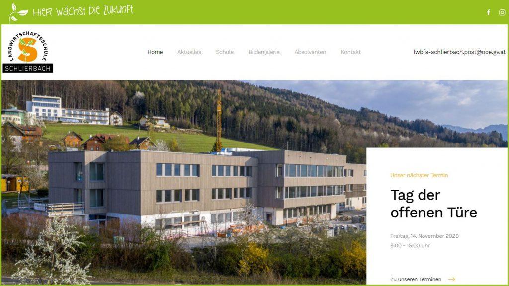 LFS Schlierbach – neue Website