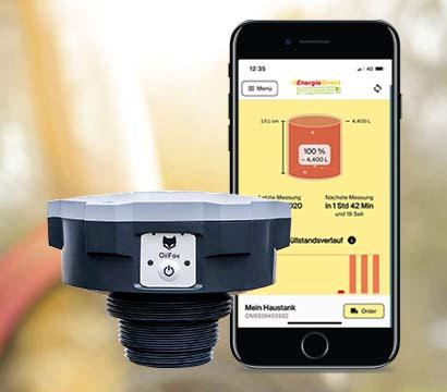 Energie Direct OilFox: der intelligente Füllstandsmesser für den Diesel- oder Heizöltank