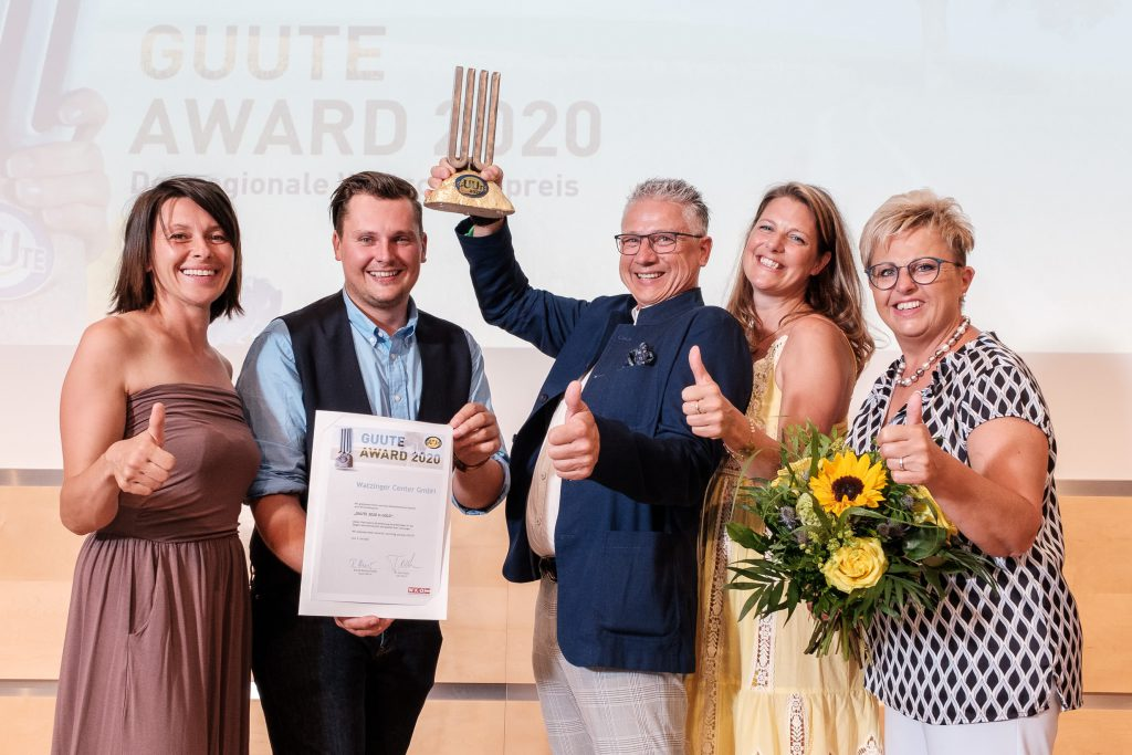 Watzinger-Center mit GUUTE Award vergoldet
